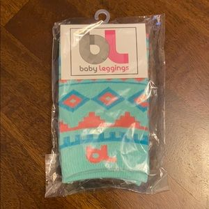 NWT Baby Leggings Blue and Pink